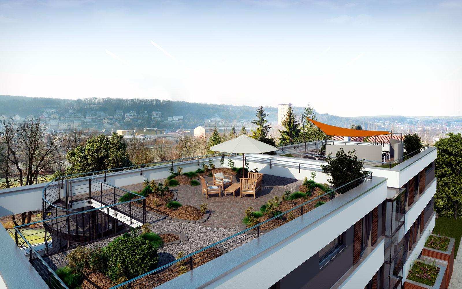 beck neubau mehrfamilienwohnhaus smart home in ochsenfurt haas haas architekt i. Black Bedroom Furniture Sets. Home Design Ideas